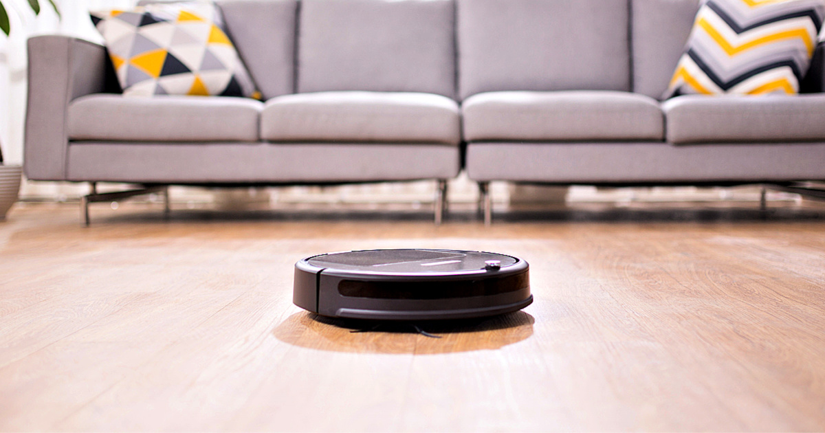 roborock E35 Robot Vacuum and Mop in living room