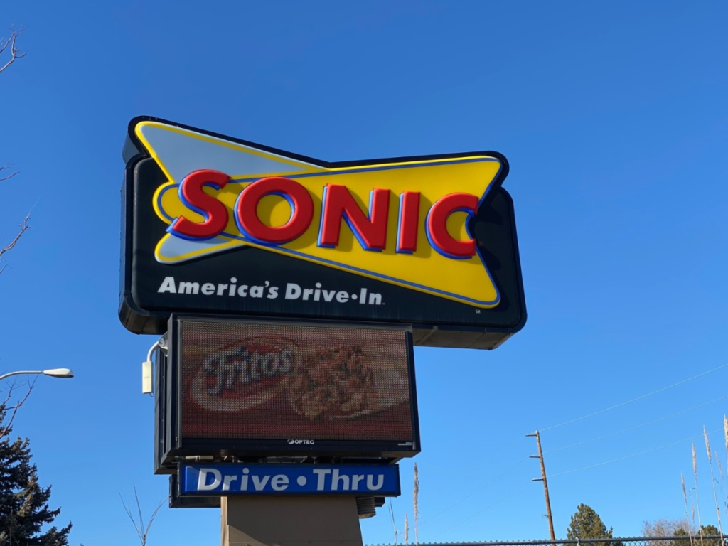 Sonic drive thru sign