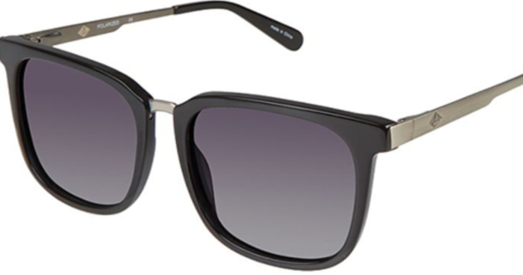 black sunglasses with tinted frames