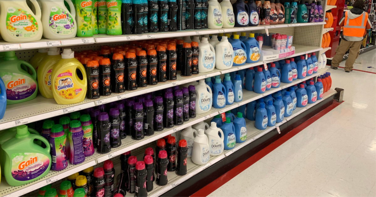 target laundry care in aisle