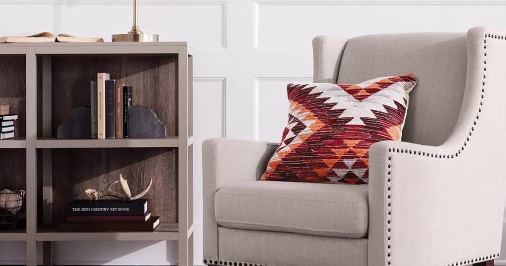 threshold bookcase with chair