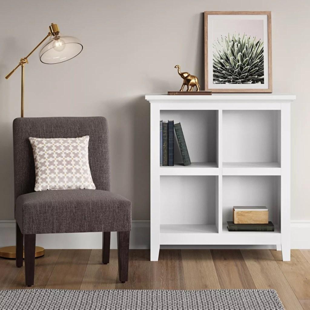 threshold white bookcase