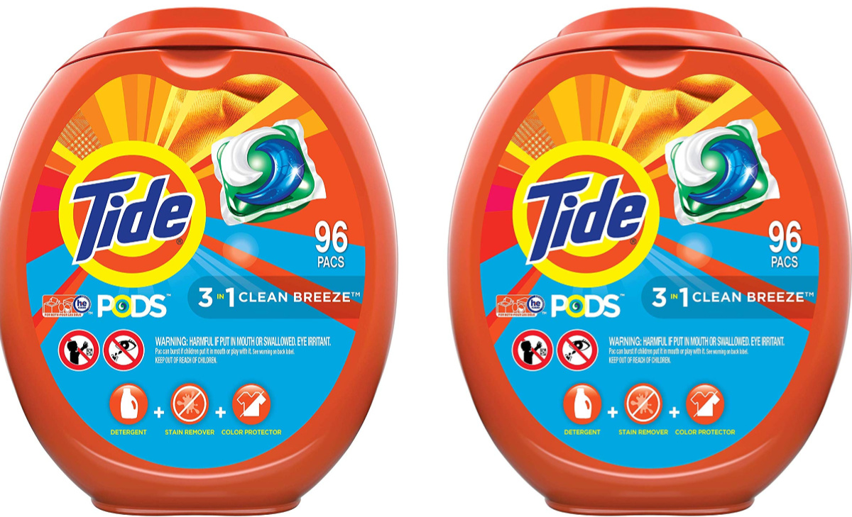 2 packs of Tide Pods Clean Breeze