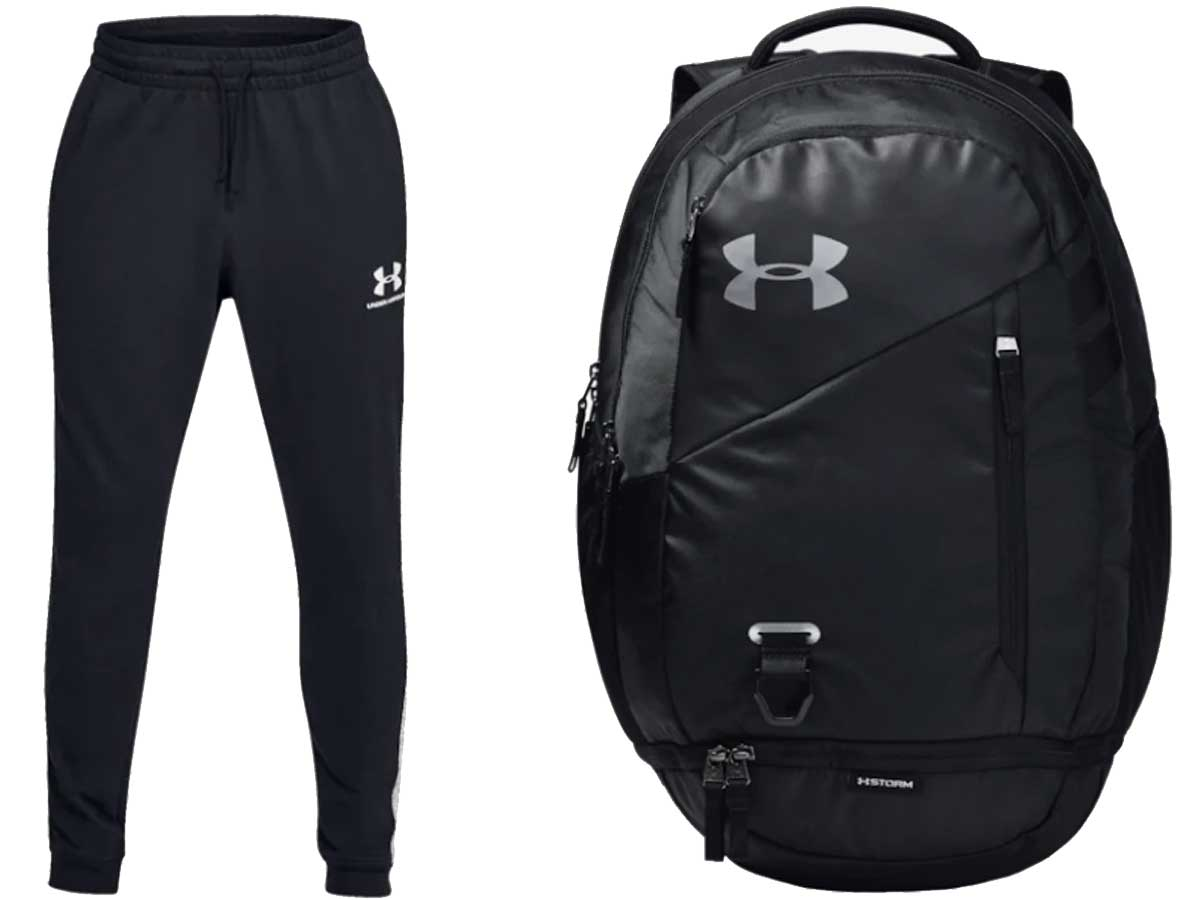 under armour sweats and backpack