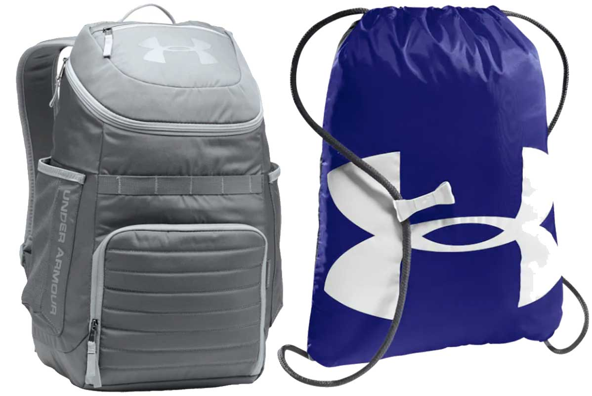 under armour backpack and sack