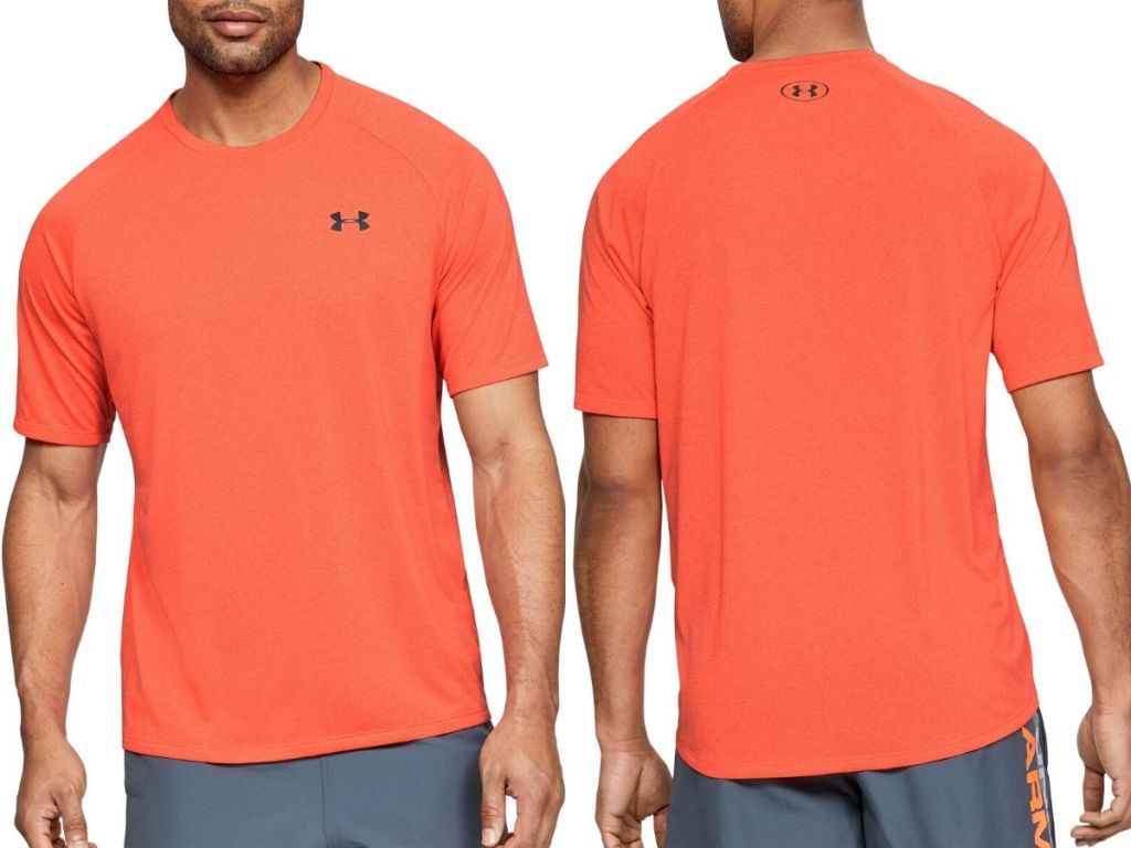 front and back view of men's t-shirt