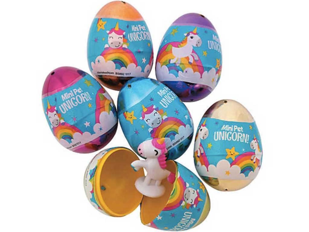 Unicorn-Filled Plastic Easter Eggs12ct