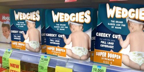 *RARE* $2/2 Wedgies Super Dooper Strength Diapers Coupon