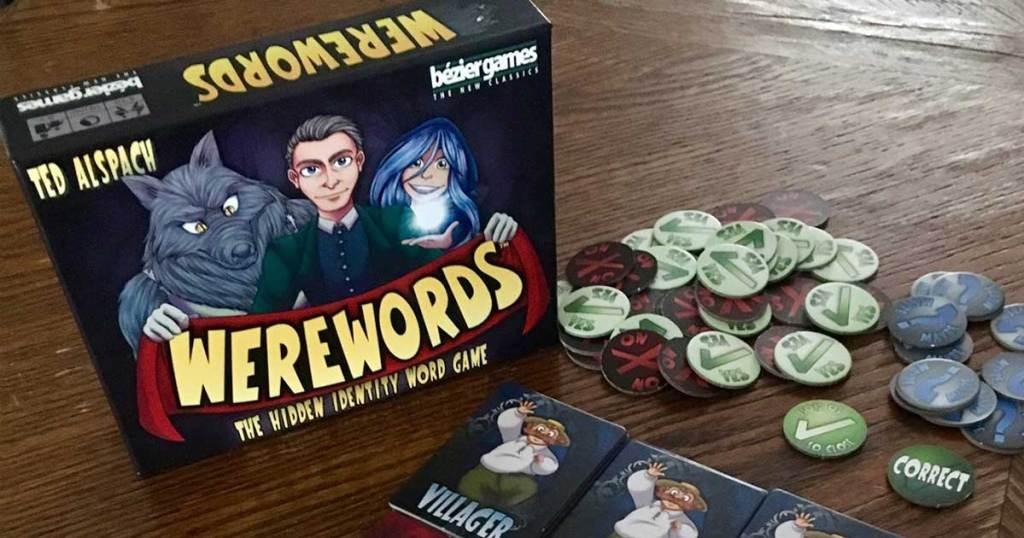 werewords board game set out on table