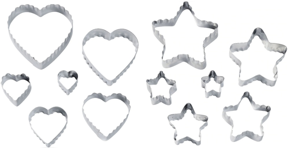 heart and stars cookie cutters