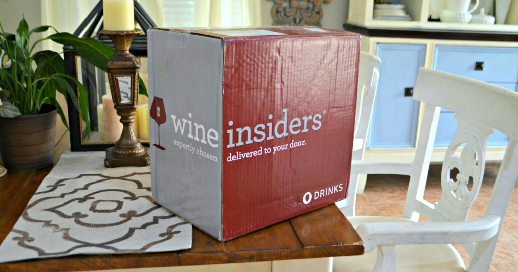 box of wine on table