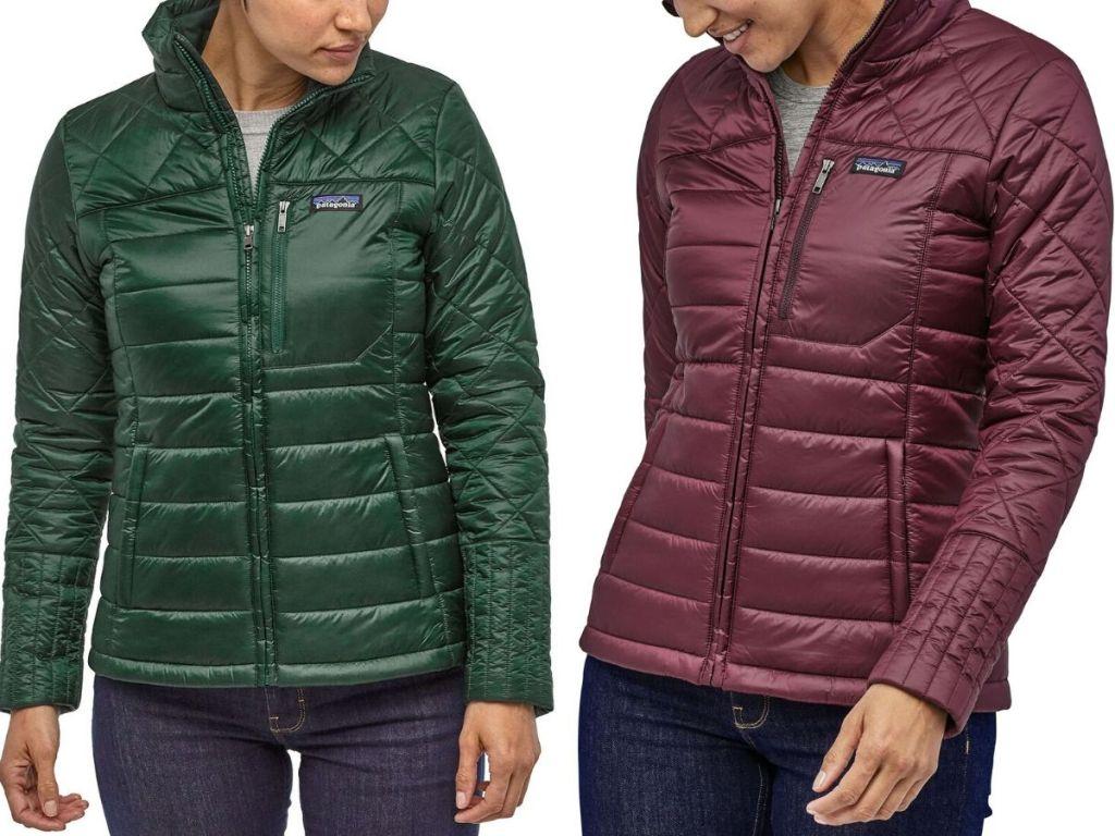 two womens torsos wearing patagonia winter jackets