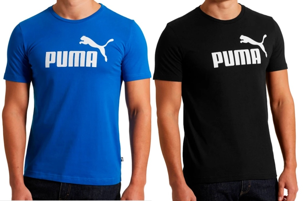 two men wearing mens puma t-shirts
