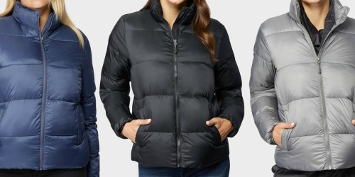 32 Degrees Women's Puffer Jacket Only $14.99 (Regularly $100)