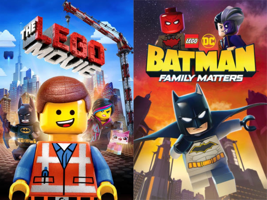 The Lego Digital Movie Cover and Lego DC Batman Family Matters Cover