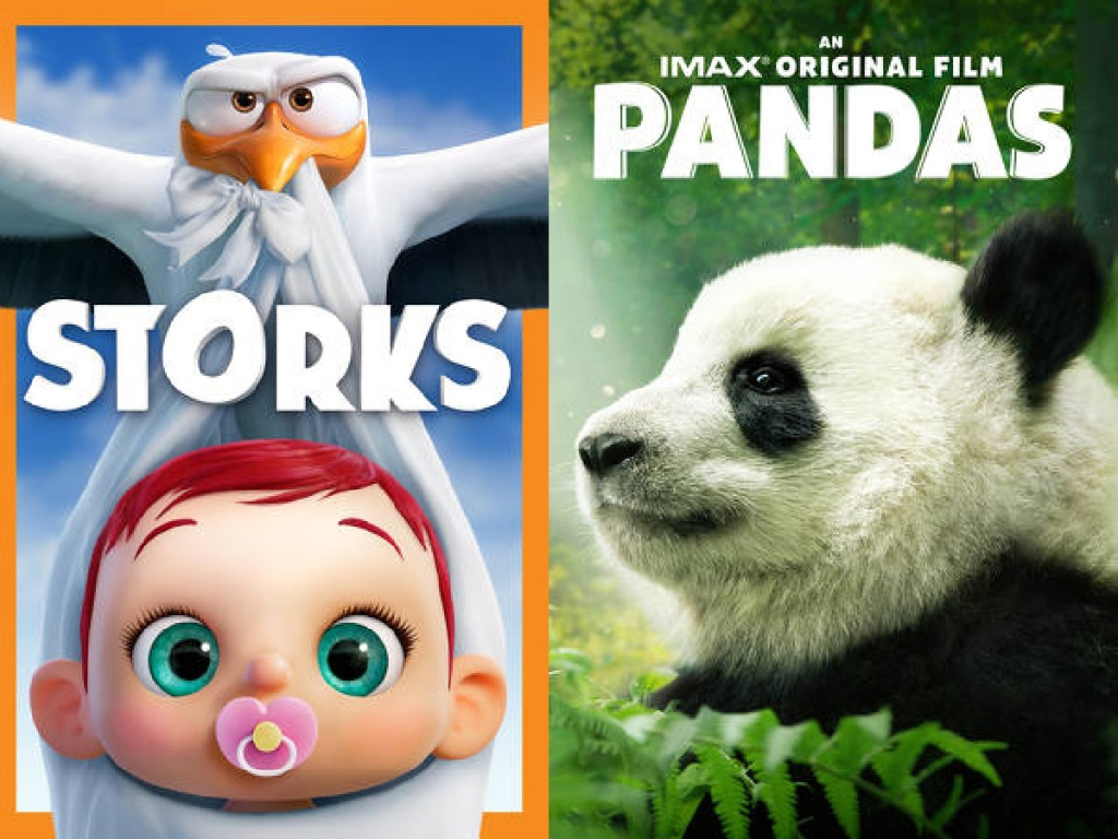 Storks and Pandas Digital Movie Covers