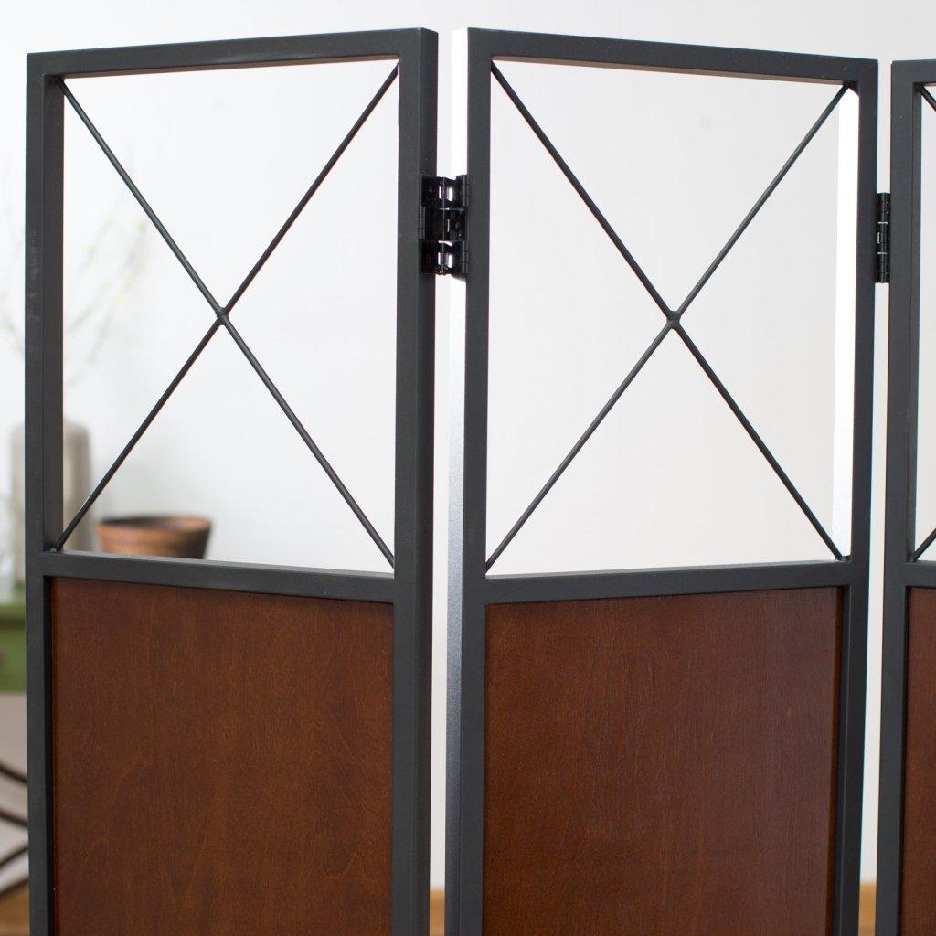 top of wooden room divider