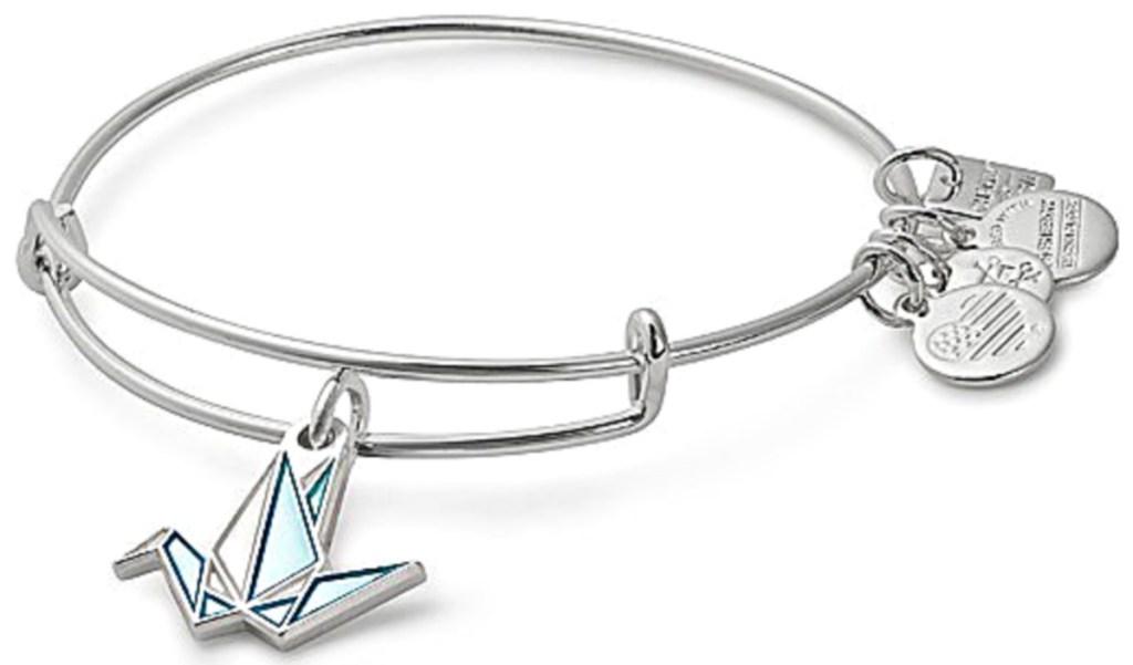 Alex and Ani Paper Crane Adjustable Bracelet