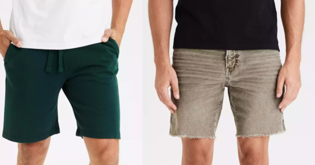 men wearing shorts