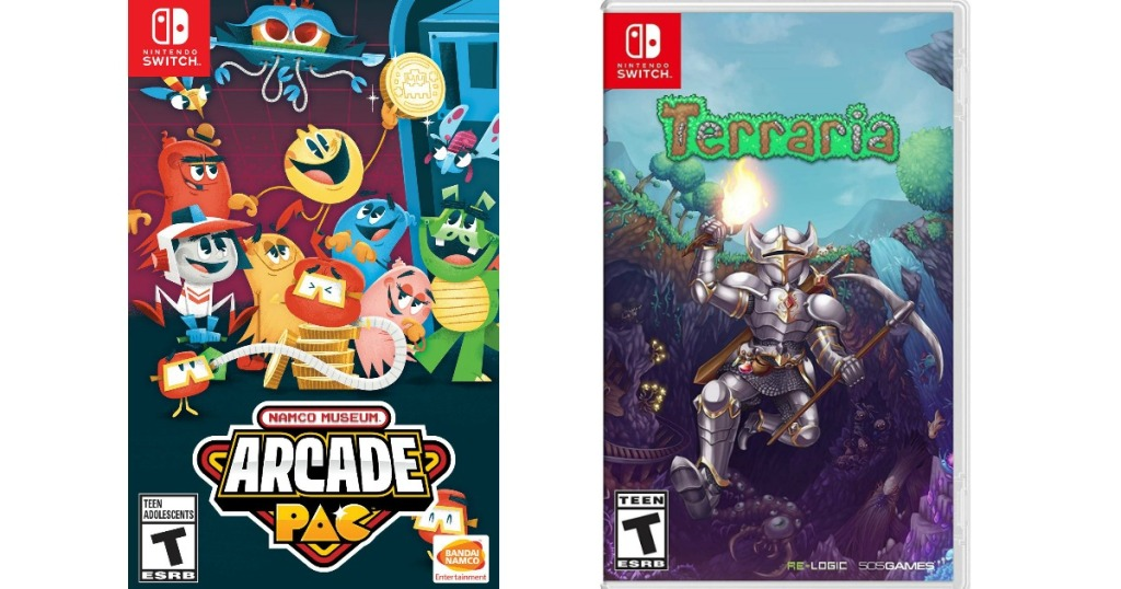 Arcade Pac and Terraria video game cases