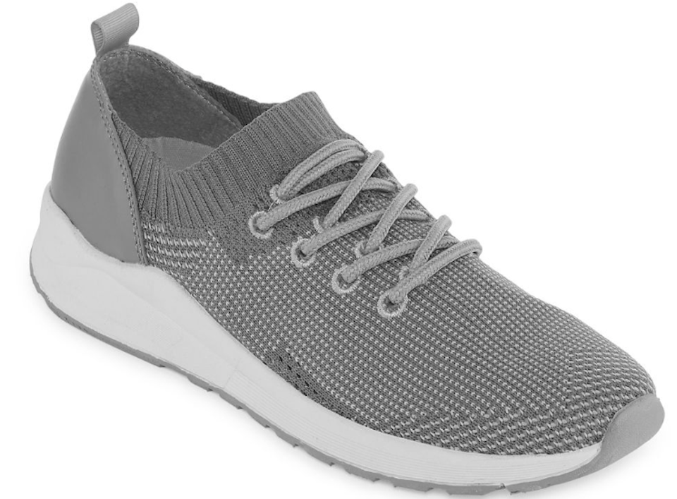 grey and white shoe
