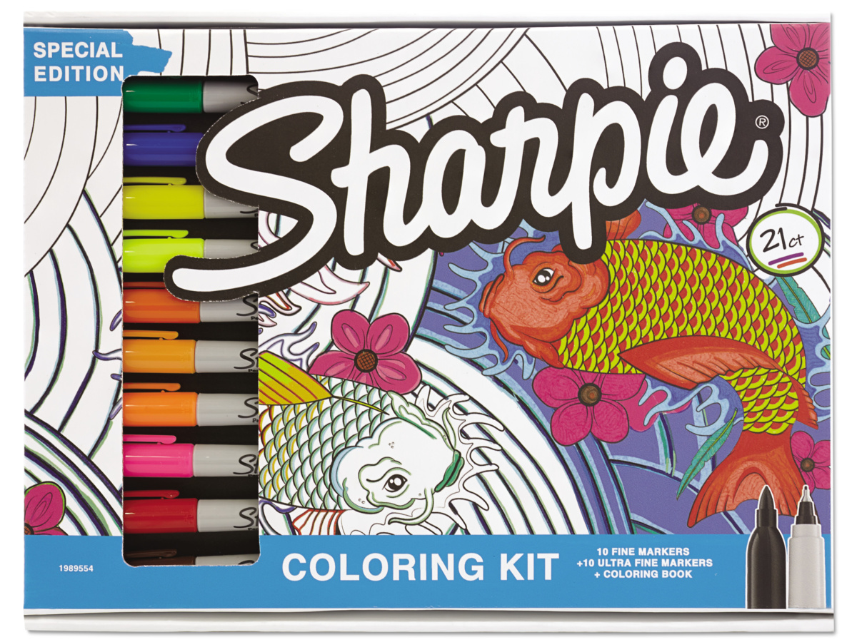 Sharpie Kit with multiple markers in package