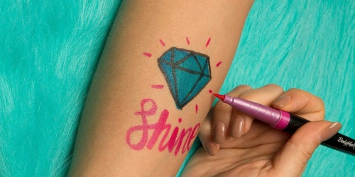 $10 Off Highly Rated BIC BodyMark Temporary Tattoo Markers on Amazon