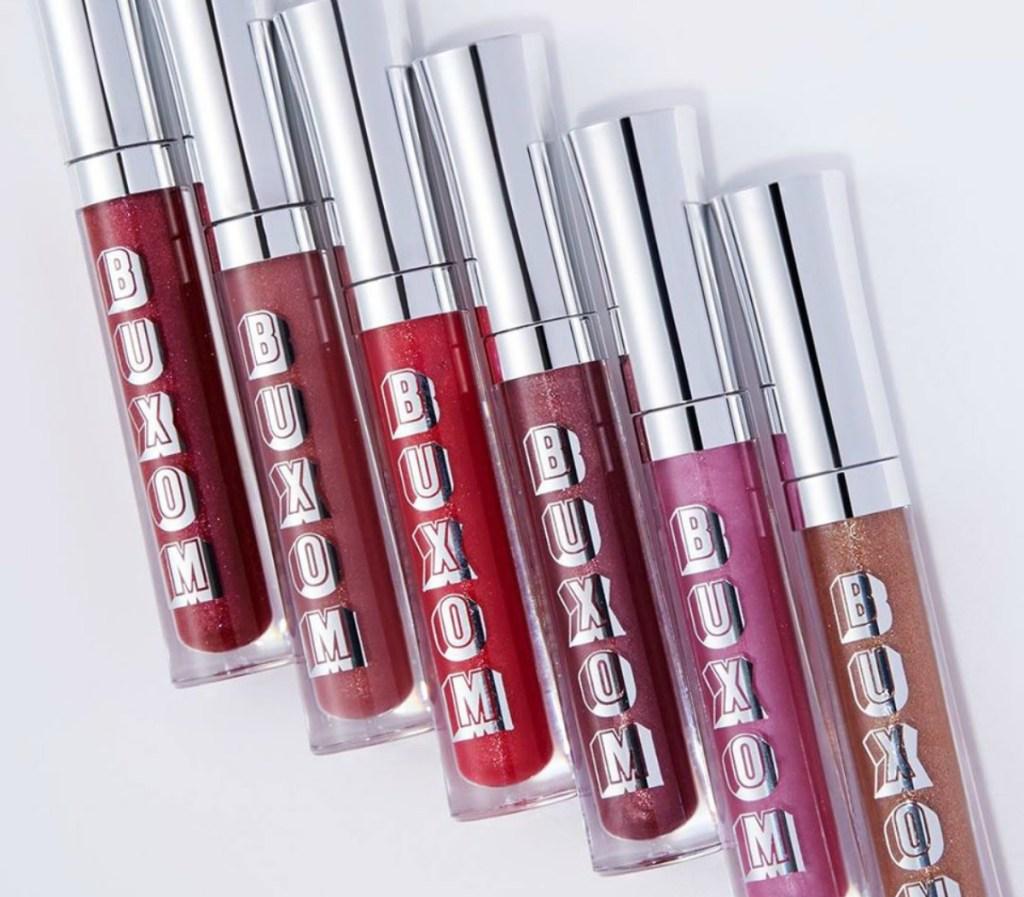 various shades of BUXOM lip gloss