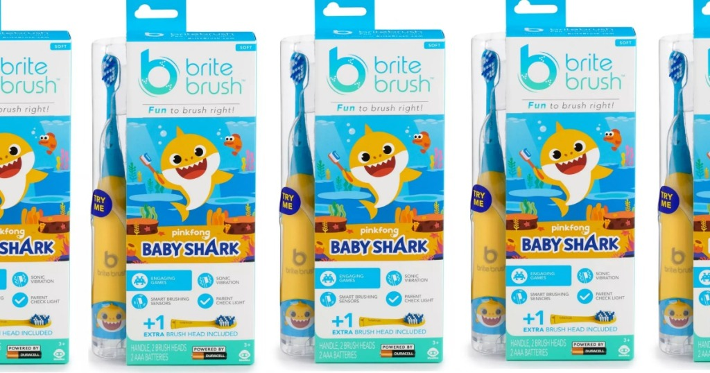 Packages of Baby Shark toothbrushes