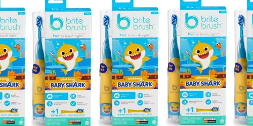 This Smart Kids Toothbrush Features Baby Shark Song & Lights Up (+ Stock up & Save $5)