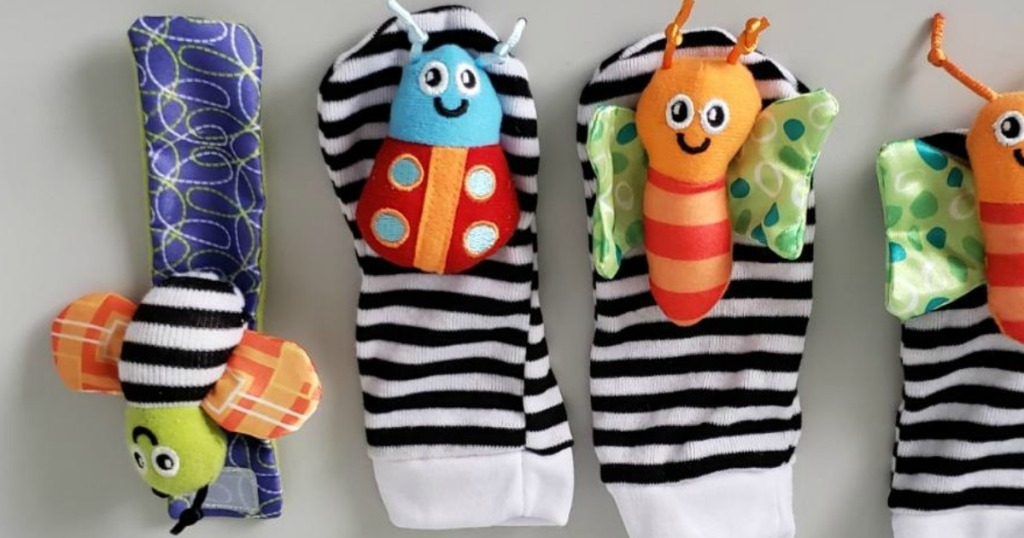 Baby Wrist & Foot Animal Rattle 4-Pack