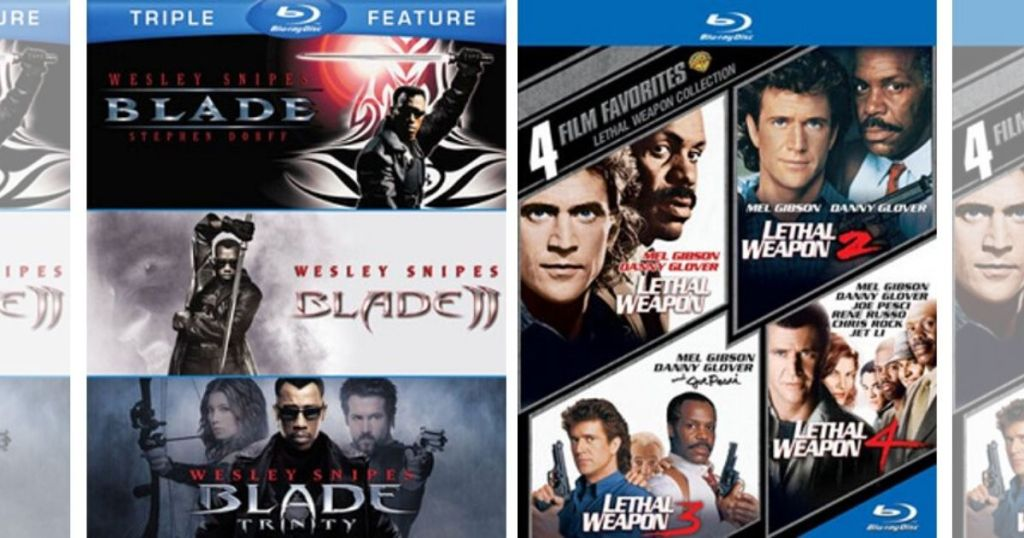 Blu-Ray Blade and Lethal Weapon
