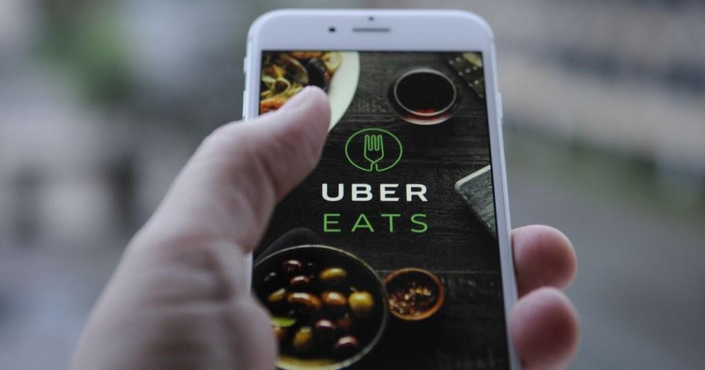uber eats on phone