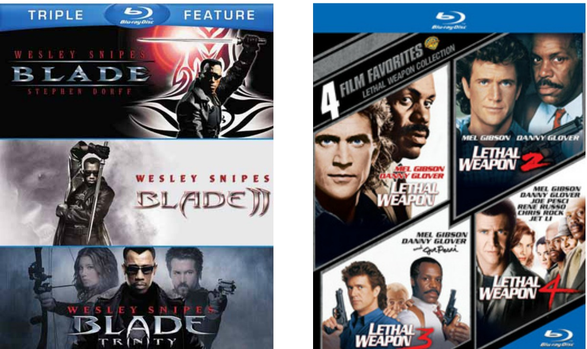 Two blu ray combo packs with action movie series