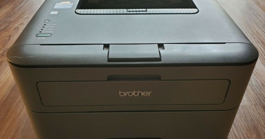 Brother Laser Printer on Table