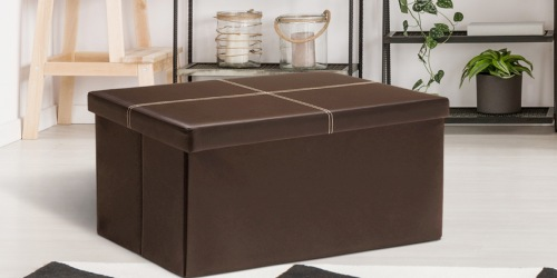 Collapsible Storage Ottoman Bench Just $21 on Walmart.com (Regularly $50)
