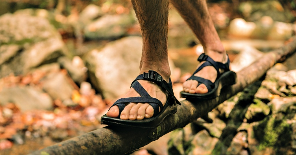 Man wearing CHACO MEN'S Z 2 CLASSIC