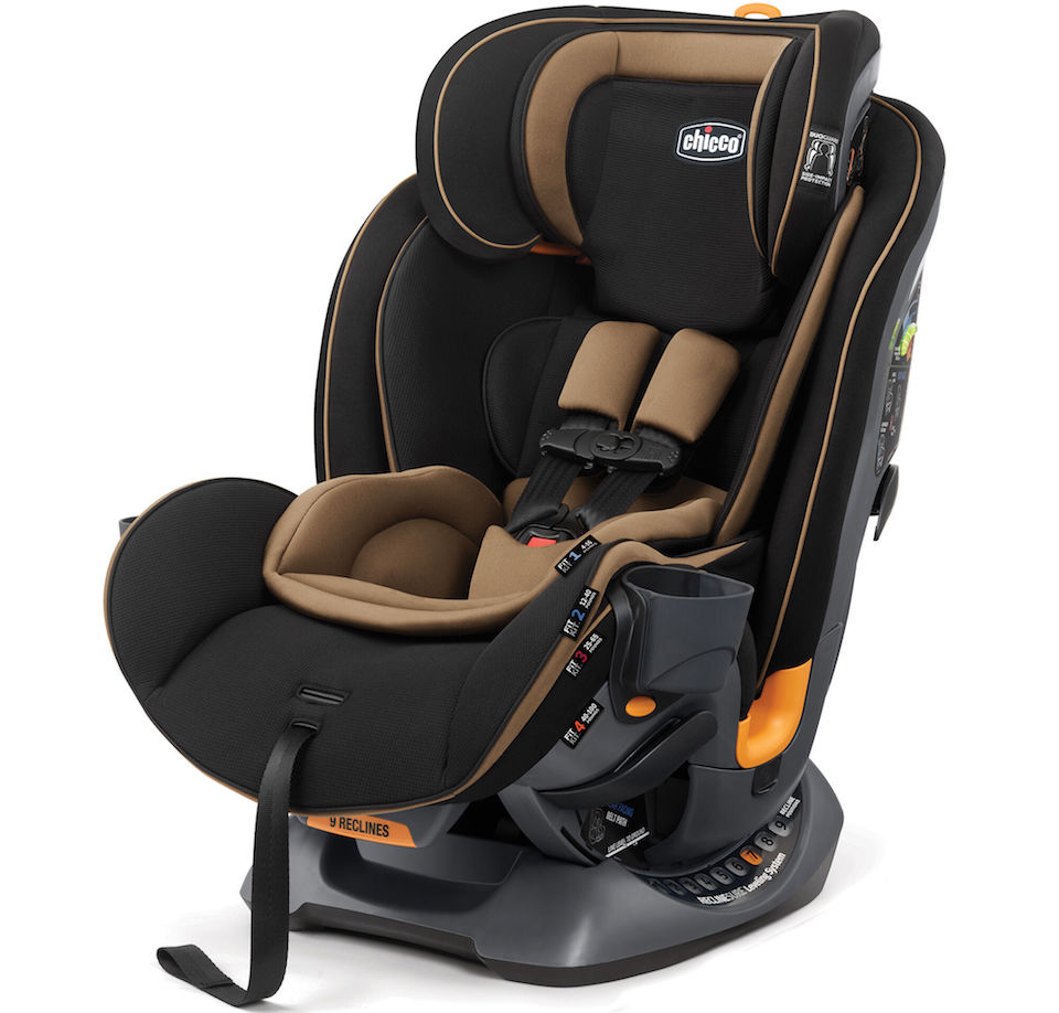 black and tan car seat