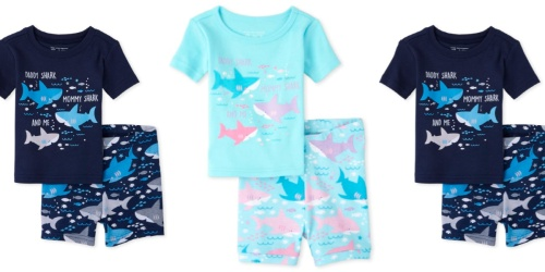 The Children's Place Matching Family Shark Pajamas Just $35.52 Shipped for Mom, Dad AND 2 Kids