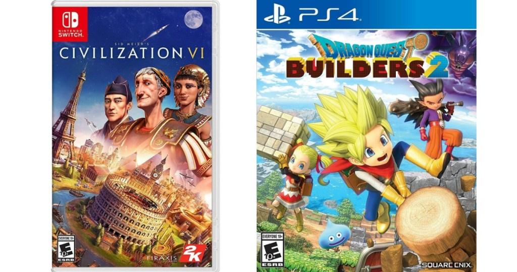 Civilization and Dragon Quest Games