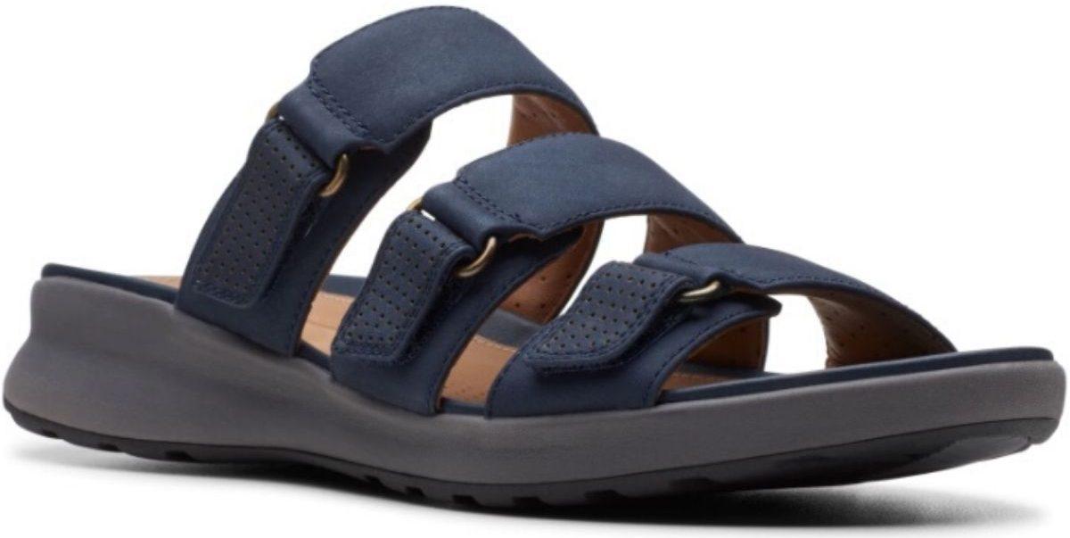 womens three strap sandals