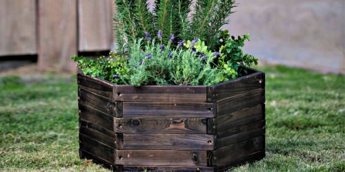 Wood Hexagon Planter Only $30.99 Shipped on Walmart.com (Regularly $62)