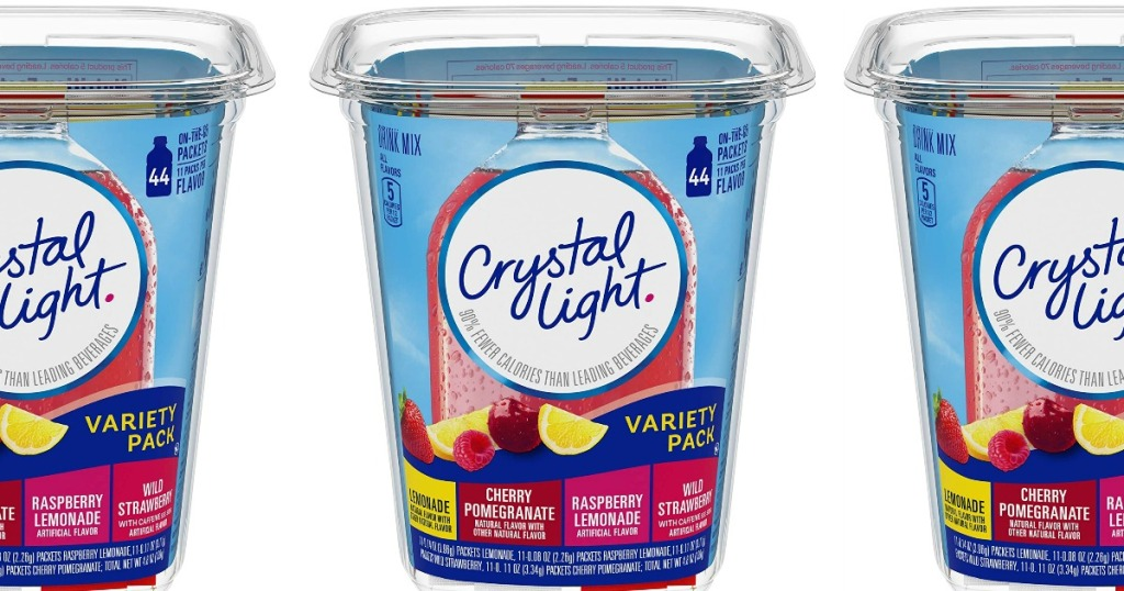 Crystal Light 44 count drink packets box