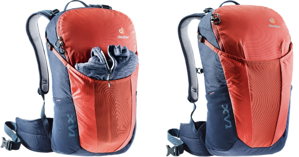 two Deuter XV 1 Pack in orange and denim blue