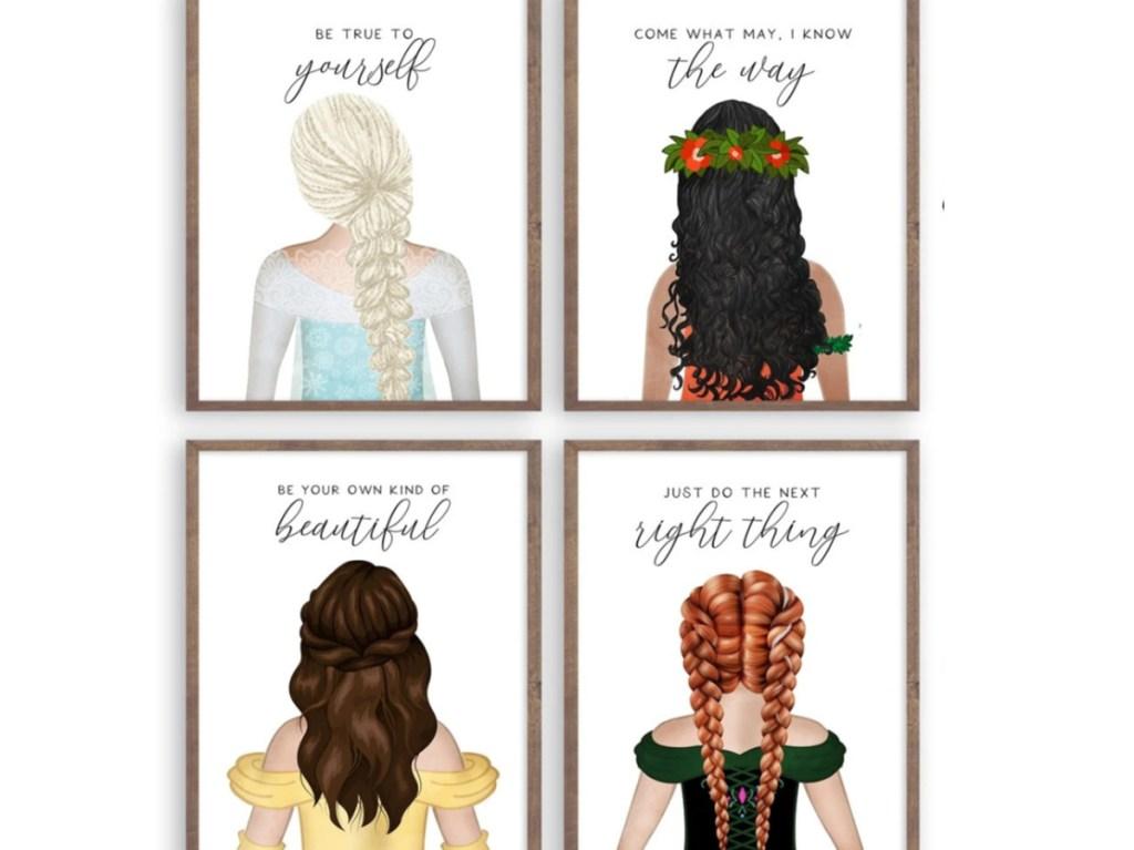 disney princess art prints