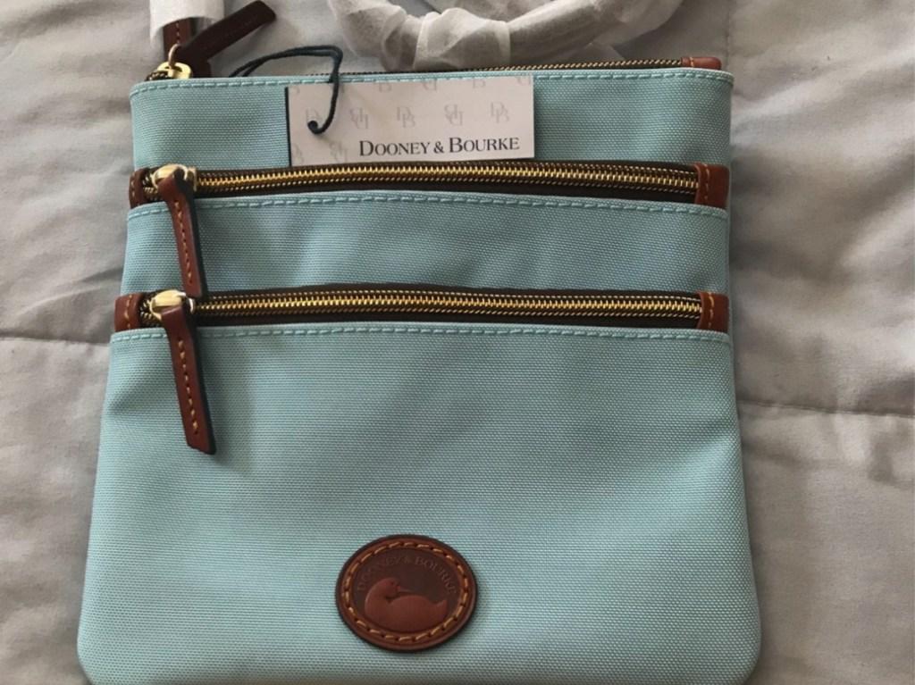 light blue crossbody bag