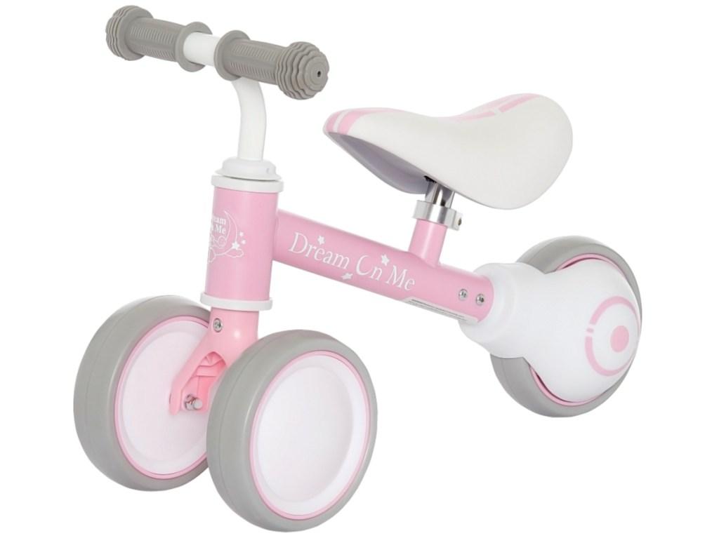 light pink girls bike