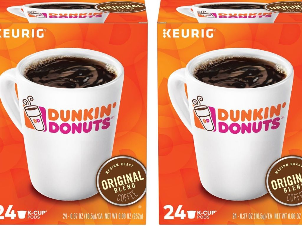 two boxes of 24 count dunkin k-cups