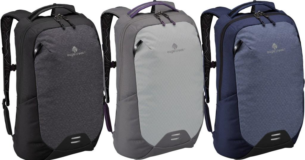 Eagle Creek Wayfinder 20L Pack in black, grey, and blue