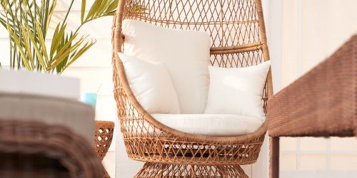 Sonoma Wicker Swivel Egg Chair as Low as $342.99 Shipped + Get $60 Kohl's Cash